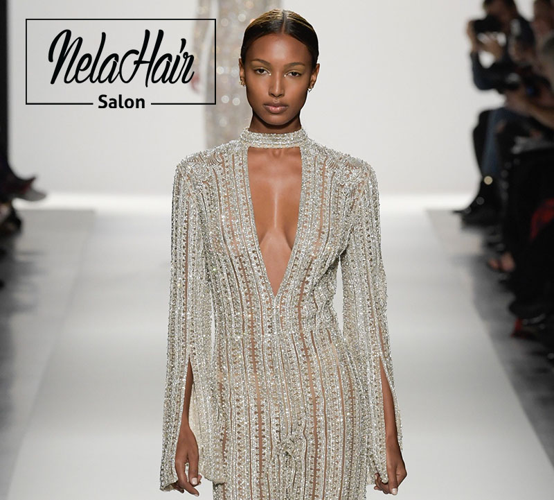 Nela Hair Salon-In New York Fashion Week Show- Models on catwalk